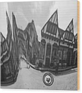 Carmel-by-the-sea Jaguar Hood Wood Print