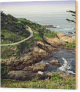 Carmel Highlands Wood Print
