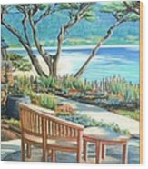 Carmel Lagoon View Wood Print