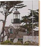 Carmel Light Station Wood Print