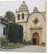 Carmel Mission Church Wood Print