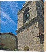 Carmel Mission In Sun Wood Print