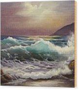 Carmel Sea Sunset Sold Wood Print