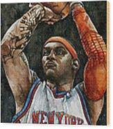 Carmelo Anthony Wood Print