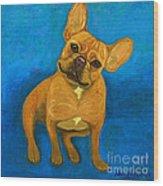 Carmen French Bulldog Wood Print