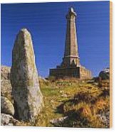 Carn Brea Memorial Wood Print