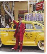 Carnaval In San Francisco Wood Print