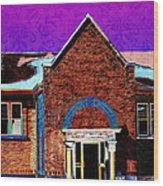 Carnegie Library North Platte Wood Print