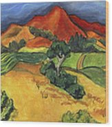 Carneros Vineyard Summer Wood Print