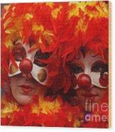 Carnevale Di Venezia 100 Wood Print