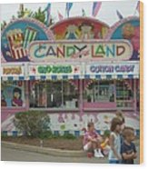 Carnival Candy Land Wood Print