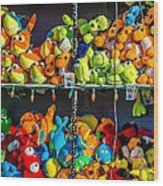 Carnival Critters Wood Print