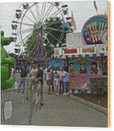 Carnival Ferris Wheel Wood Print