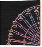 Carnival - Ferris Wheel Wood Print