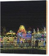 Carnival Life At Night 01 Wood Print
