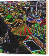Carnival - Midway West Wood Print