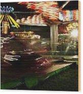 Carnival Ride 1  Wood Print