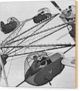 Carnival Ride, 1942 Wood Print