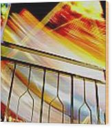 Carnival Ride Fence Wood Print