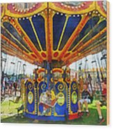 Carnival - Super Swing Ride Wood Print
