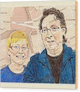 Carol And Gord Of London Wood Print