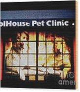 Carol House Quick Fix Pet Clinic Wood Print
