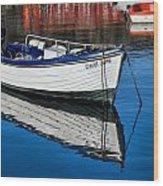 Carol June At Lyme Regis Harbour Wood Print