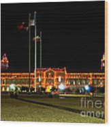 Carol Of Lights And Bell Towers Wood Print