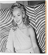 Carole Landis, At El Morocco, Ca. Early Wood Print