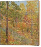 Carolina Autumn Gold Wood Print
