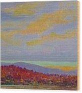 Carolina Autumn Sunset Wood Print