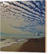 Carolina Blue Sky And Pier 10 10/17 Wood Print