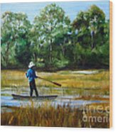 Carolina Cove Wood Print