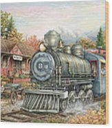 Carolina Morning Train Wood Print