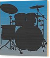 Carolina Panthers Drum Set Wood Print
