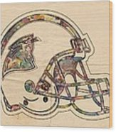 Carolina Panthers Logo Art Wood Print