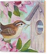 Carolina Wren In Springtime Wood Print