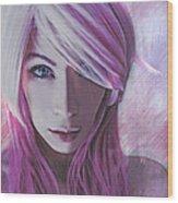 Caroline Laughs Wood Print