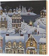 Caroling In Winterberry Wood Print