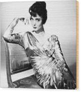 Carolyn Jones, 1959 Wood Print