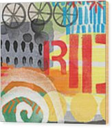 Carousel #6 Ride- Contemporary Abstract Art Wood Print