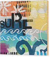Carousel #7 Surf - Contemporary Abstract Art Wood Print