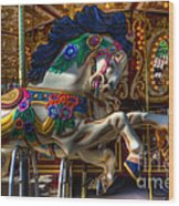 Carousel Beauty Ready To Roll Wood Print