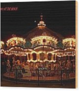 Carousel - Broadway At The Beach - Myrtle Beach Sc Wood Print