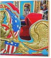 Carousel Chariot Wood Print