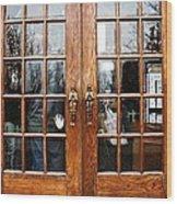 Carousel Doors Wood Print