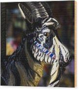 Carousel Goat Wood Print