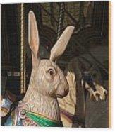 Carousel Hare Wood Print