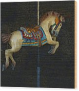 Carousel Horse Painterly Wood Print