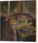 Carousel Horses Painterly Wood Print